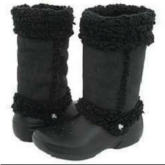 a720502bf3210e CROCS Shoes - Crocs Nadia Fold Over Boots . Women s 9